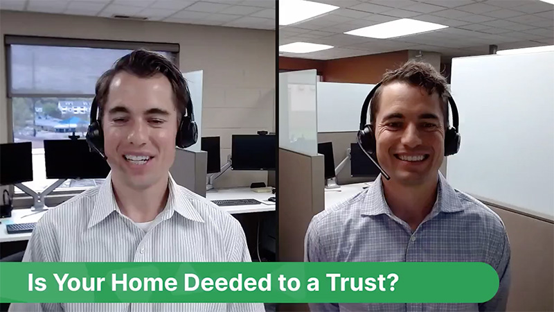 is your home deeded to a trust?